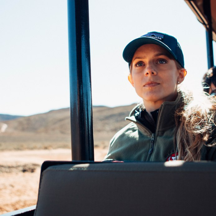 Deep in thought. I loved this safari. Our guide was so smart and I learned a lot about land management for conservation.